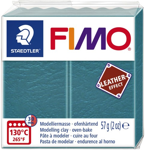 Klei Fimo  leather-effect 57 gr lagune