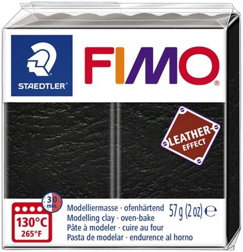Klei Fimo  leather-effect 57 gr zwart