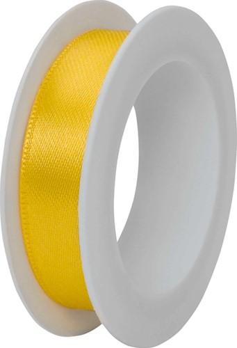 Satijnlint 1,5cmx3m geel