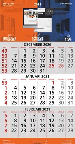 3-MAANDSKALENDER 2021 Hoogerwerf