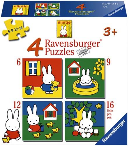 Puzzel Ravensburger Nijntje 4x puzzels 6+9+12+16 stuks