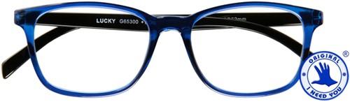 Leesbril I Need You Lucky +1.00 dpt blauw-zwart