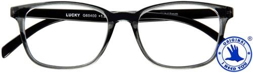 Leesbril I Need You Lucky +3.00 dpt grijs-zwart
