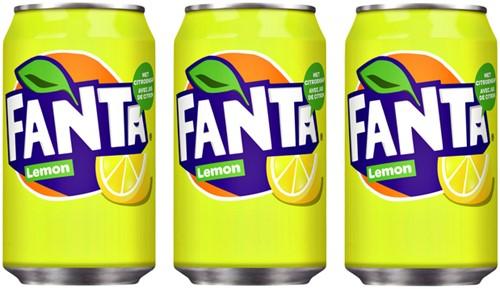 Frisdrank Fanta Lemon blikje 0.33l-3