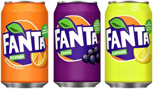 Frisdrank Fanta Lemon blikje 0.33l-1