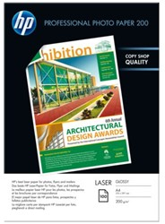Fotopapier laser HP CG966A 200gr A4 glans wit 100vel