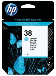 INKCARTRIDGE HP 38 C9418A LICHT BLAUW
