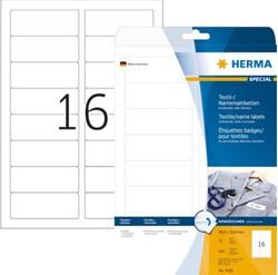 NAAMBADGE ETIKET HERMA 4420 TEXTIEL 88.9X33.8MM 400ST WT