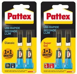 Secondelijm Pattex Classic + supergel tube 3gram op blister