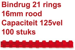 BINDRUG FELLOWES 16MM 21RINGS A4 ROOD