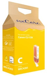 Inkcartridge Wecare Canon CLI-526 geel