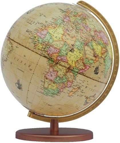 Globe Columbus Renaissance houten voet 30cm 603016/H