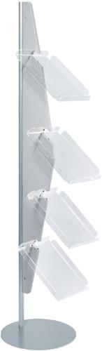 Folderhouder Helit gebogen vloer 4xA4 grijs