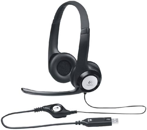 Headset Logitech H390 Over Ear zwart