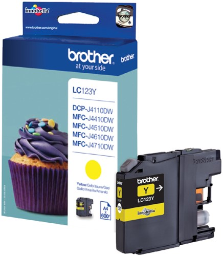 Inktcartridge Brother LC-123Y geel