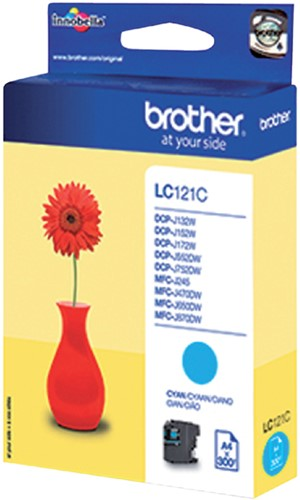 Inktcartridge Brother LC-121C blauw