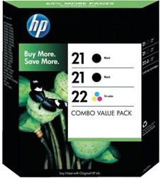 INKCARTRIDGE HP 21 22 SD400AE 2X ZWART KLEUR