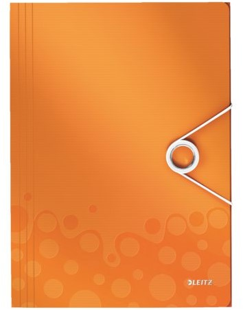 3-klepsmap Leitz WOW A4 PP oranje-3