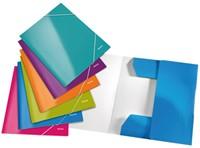3-klepsmap Leitz WOW A4 karton blauw-2