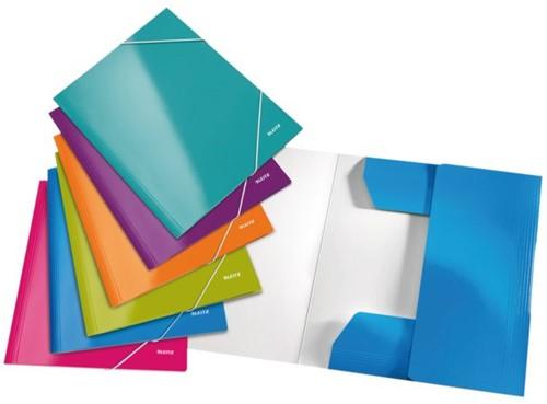 3-klepsmap Leitz WOW A4 karton ijsblauw-2