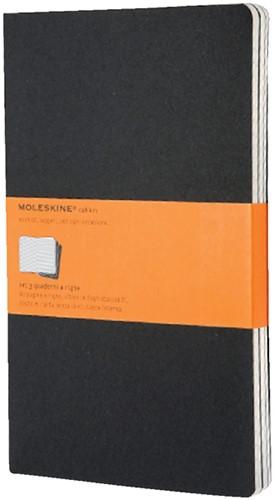 Schrift Moleskine 130x210mm lijn160blz large zwart