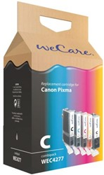 Inkcartridge Wecare Canon PGI-520 CLI-521 zwart + kleur
