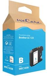 INKCARTRIDGE WECARE BRO LC-123 BLAUW