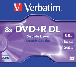 DVD+R Verbatim 8.5GB 8x Double layer jewelcase
