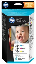 INKCARTRIDGE HP 364 T9D88EE 3 KL + 50VEL 10X15CM