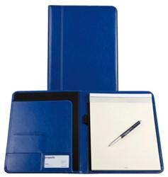 Schrijfmap Brepols A5 Palermo met blok koningsblauw
