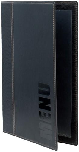Menukaart Securit Trendy A5 1 x 2 tassen zwart