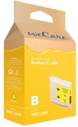 Inkcartridge Wecare Brother LC-1000 geel