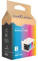 INKCARTRIDGE WECARE BRO LC-1000 ZWART 3 KLEUREN