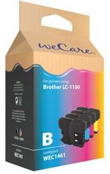 INKCARTRIDGE WECARE BRO LC-1100 ZWART 3 KLEUREN