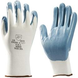 Handschoen grip Nitril foam wit/grijs extra large