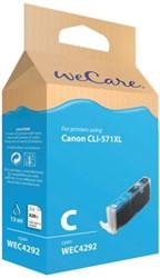 Inkcartridge Wecare Canon CLI-571XL blauw