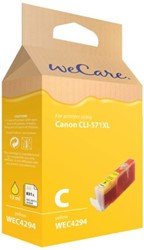 Inkcartridge Wecare Canon CLI-571XL geel