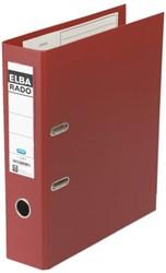 ORDNER ELBA RADO PLAST A4 80MM PVC DONKERROOD
