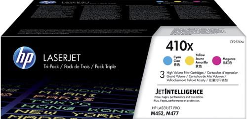 Tonercartridge HP CF252XM 410X 3 kleuren HC