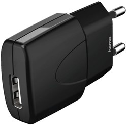 Oplader Hama USB Picco 1000mA zwart