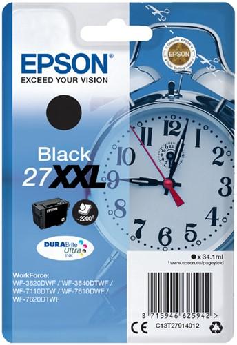 Inktcartridge Epson 27XXL T2791 zwart EHC