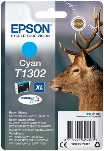 Inktcartridge Epson T1302 blauw HC