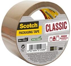 Verpakkingstape Scotch Classic 50mmx50m bruin