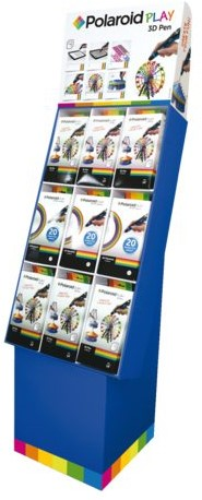 3D Polaroid display 9st 3D pennen en 9st navullingen