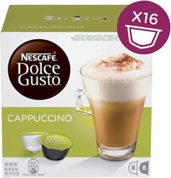 DOLCE GUSTO CAPPUCCINO 16 CUPS / 8 DRANKEN