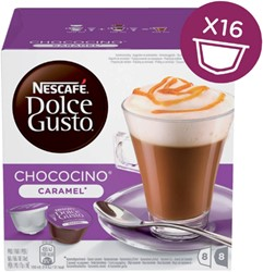 DOLCE GUSTO CHOCO CARAMEL 16 CUPS / 8 DRANKEN
