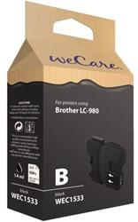 Inkcartridge Wecare Brother LC-980 zwart