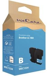 Inkcartridge Wecare Brother LC-980 blauw