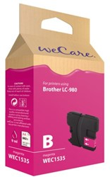 Inkcartridge Wecare Brother LC-980 rood