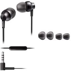 Oortelefoon Philips in ear SE3855G antraciet grijs